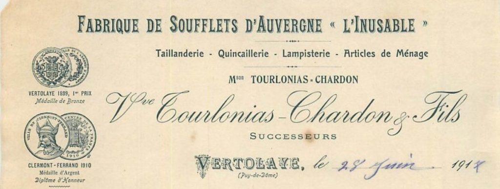 facture fabrique Tourlonias